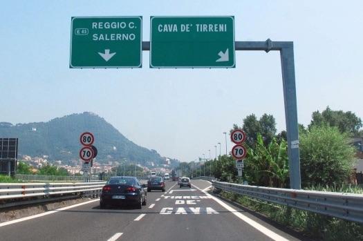 Tratto autostrada A3 tra Cava e Salerno chiuso tra il 5 e il 6 settembre: ecco il percorso alternativo