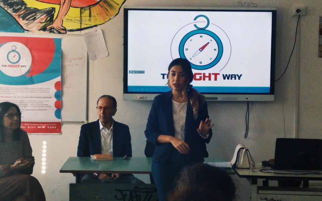 """""""The Right Way"""", seconda tappa al Liceo Sabatini Menna di Salerno: 9 novembre terzo appuntamento"""